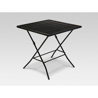 Pleasant Standish Folding Patio Bistro Table Black Project 62 Home Interior And Landscaping Mentranervesignezvosmurscom