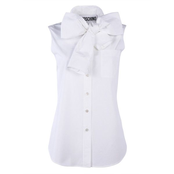 Moschino Shirts (675 RON) ❤ liked on Polyvore featuring tops, shirts, collared shirts, corsettes, moschino top, shirt top, moschino, moschino shirt and corset tops