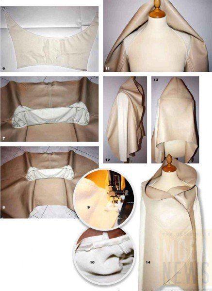 Как сшить куртку из кожи и трикотажа.