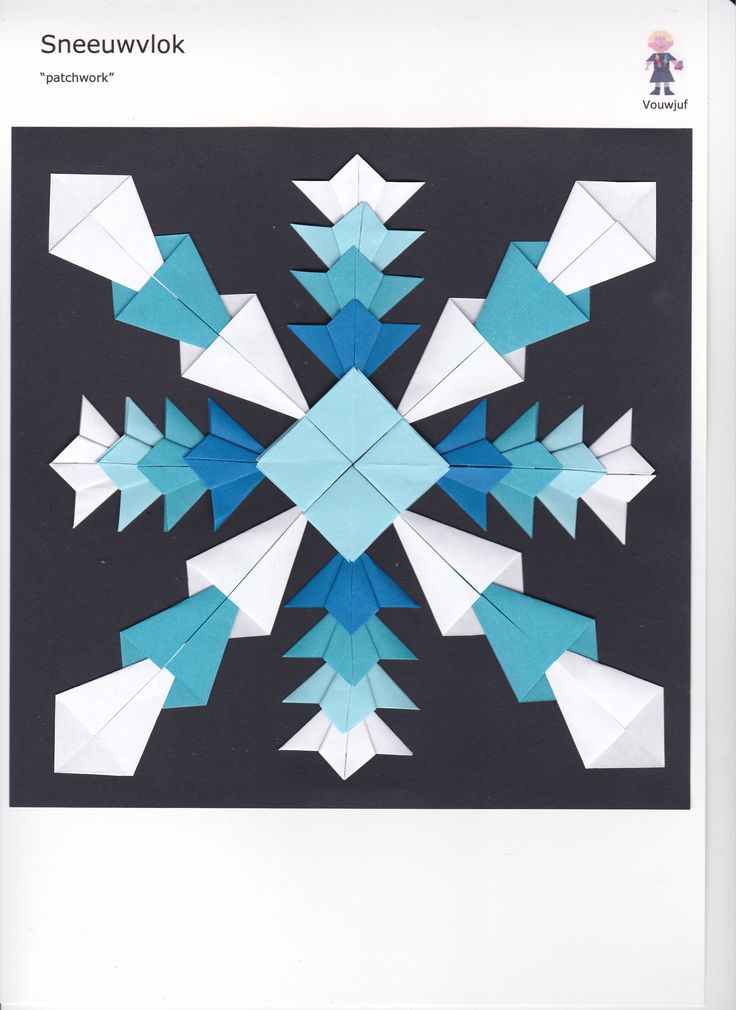 Sneeuwvlok - diverse basisvouwsels
