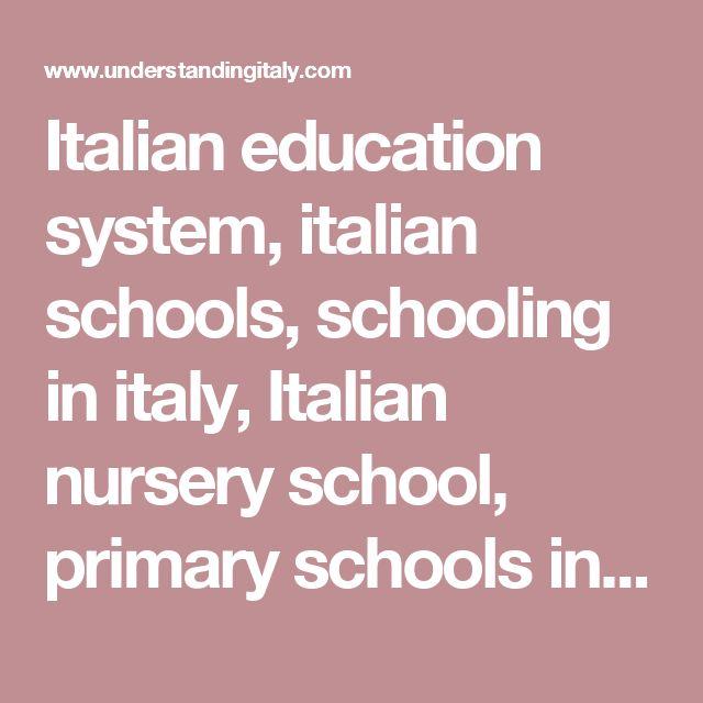 Italian education system, italian schools, schooling in italy, Italian nursery school, primary schools in italy, italian middle school, high school, secondary schools in italy, vocational studies in italy, academic schools, Italian universities