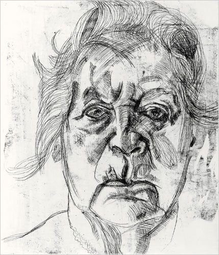 The Painter's Mother-Lucian Freud