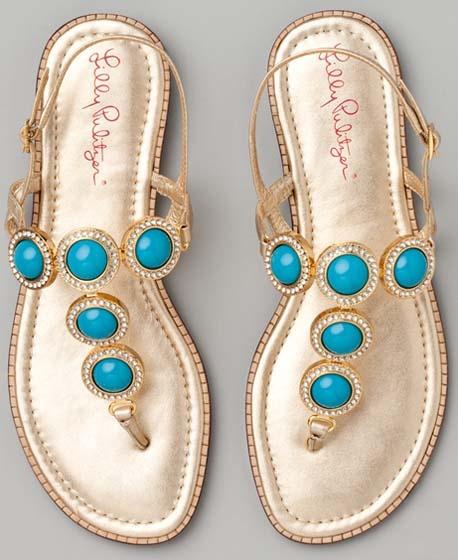 Turquoise sandles