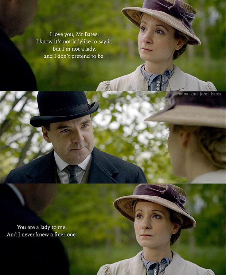 Episode 1x05 [@anna_and_john_bates | Instagram] Anna Bates John Bates Downton Abbey Joanne Froggatt Brendan Coyle