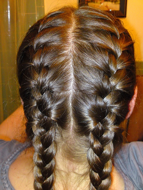 Put Your Hair In 2 French Braids Before You Go To Bed And
