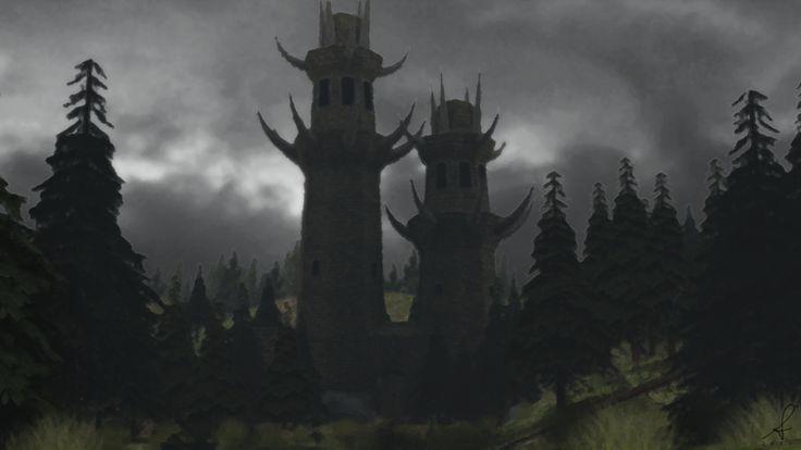 Xardas tower oil version by KetronPL