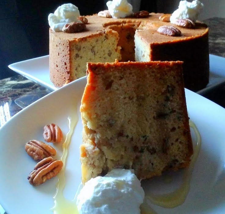 """Honey Nut Pound Cake! """"Pecan season is here! This delicious pound cake puts those tasty nuts to a good use.""""  @allthecooks #recipe"""