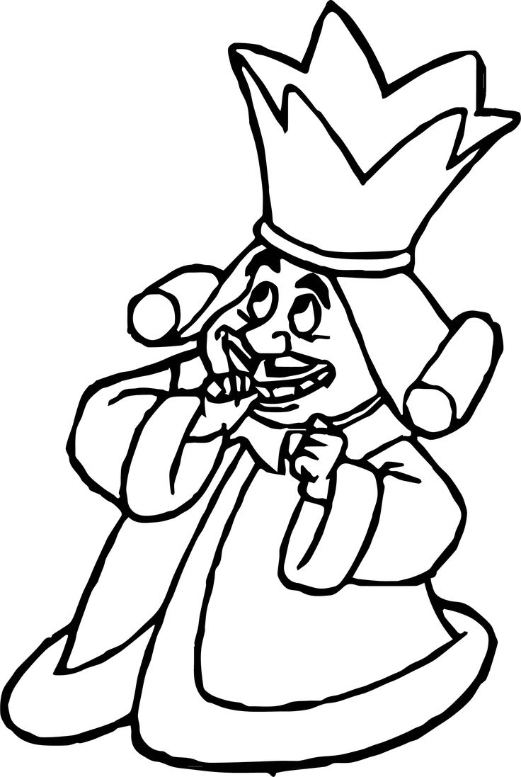 cool Alice In The Wonderland Small King Coloring Page