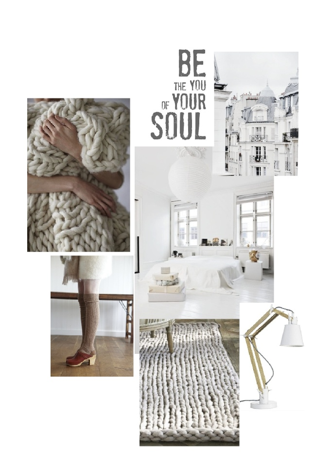 Pure and cosy knitted spirit | moodboard by lottilou