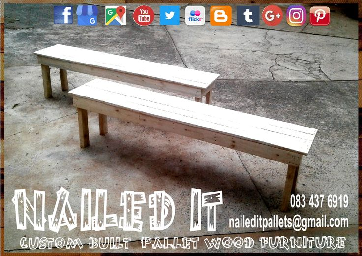 Custom Build Pallet Wood Benches. Raw Wood Finish. Perfect to fit most standard dining tables. Built to the Client's specific needs & requirements. Suitable for indoor & outdoor use. Contact 0834376919 or naileditpallets@gmail.com for all your inquiries or quotes #palletchairs #naileditpalletfurniture #customfurniture #palletfurnituredurban #custompalletfurniture #palletbench #palletwoodbench #palletwoodfurnituredurban #custompalletfurniture #custombuiltpalletfurniture
