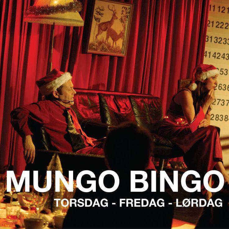 Nu venter sidste weekend med Mungo Bingo. Ses vi? Der er stadig få billetter tilbage. #bingo #jul #julebingo