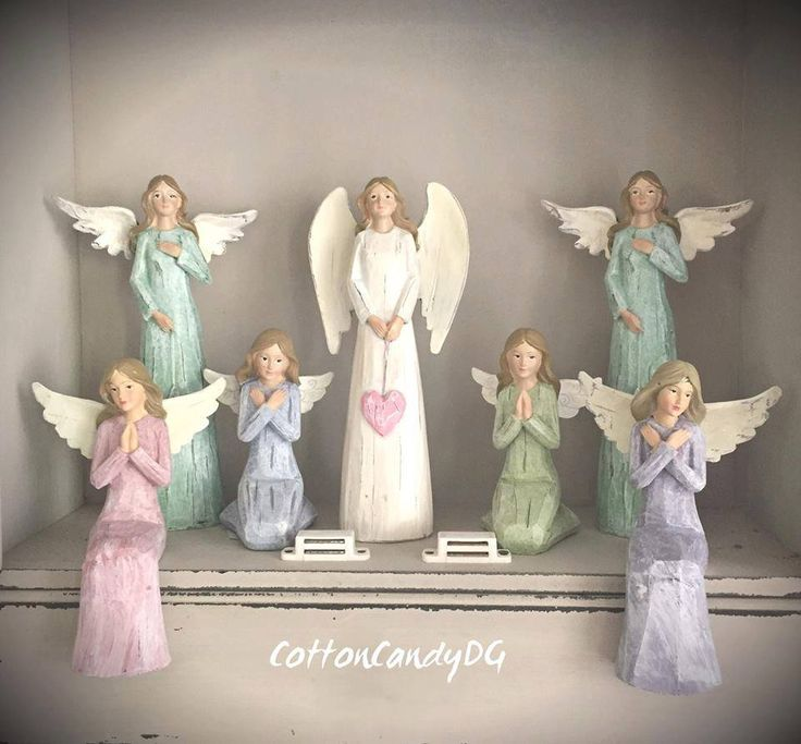 Wooden Angels / Standing Angel with star / Sitting angels / Praying Angels