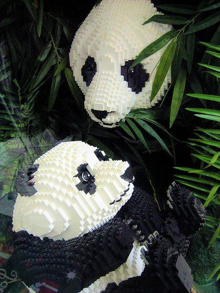 Panda - constructions #Lego les plus impressionnantes de l'histoire de la brique