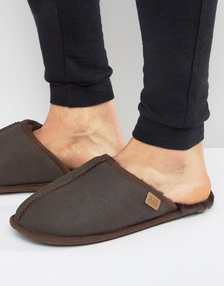 Just Sheepskin Donmar Mule Slippers - Brown