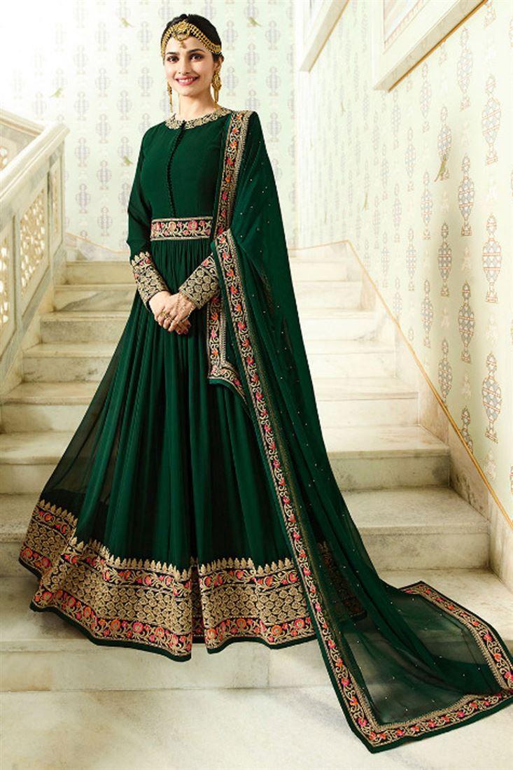 bb80f4e66a Prachi Desai Designer Fancy Long Anarkali Suit in Georgette At YOYO.Fashion  #anarkalisuits #patialasuit #straightdress #straightkurti #plazzokurta ...