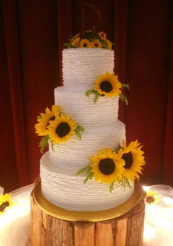 50 delicious sunflower wedding cake sunflower weddings wedding cake and sunflowers. Black Bedroom Furniture Sets. Home Design Ideas