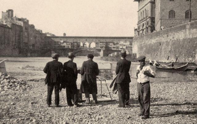 Pittore-a-Ponte-Vecchio-1900-Fratelli-Alinari.jpg (640×404)