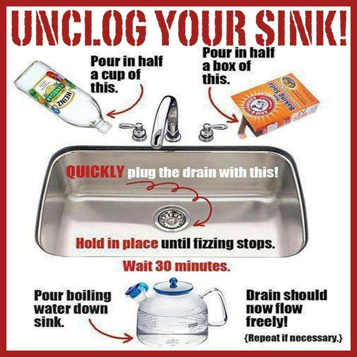 Unclog Sinks Good To Know Cleaning Hacks Cleaning