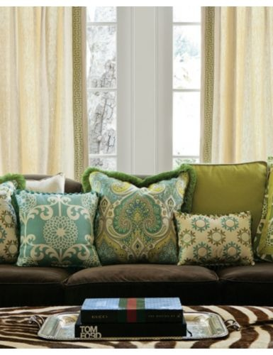 Pillows in 13714 Pinwheel  Robins Egg and 14023 Poetic Paisley  Aqua I  need these pillows for my brown leather couches to brighten up the living  room 8 best Pillows for a brown couch images on Pinterest   Living room  . Paisley Couch Living Room Furniture. Home Design Ideas