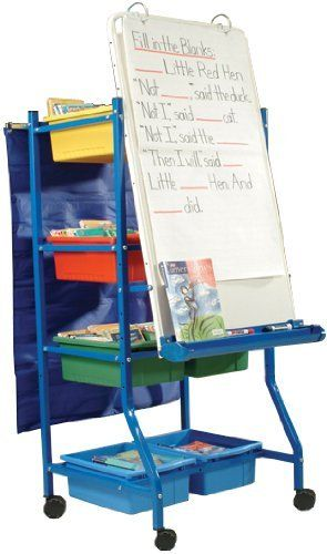 Shared Reading Center - 10 Tubs by Copernicus. $334.95. The Shared Reading Center from Copernicus packs plenty of storage space into its compact frame. This teacher easel features a height-adjustable magnetic whiteboard for written instruction. Snap-on chart and accessory hooks can accommodate larger instructional materials. The premium book ledge/marker tray is adjustable and has end safety caps. Ten open storage tubs will keep supplies and books organized. Shared...