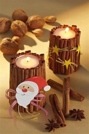 Sie möchten einen Kerzenständer basteln? Wir haben eine Idee für Weihnachten:…