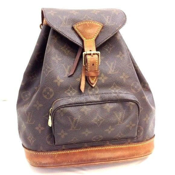 c4ee754f6c4d USA Auth LOUIS VUITTON MONOGRAM MONTSOURIS MM BACKPACK BAG Brown 116LBP348   LouisVuitton  Backpack