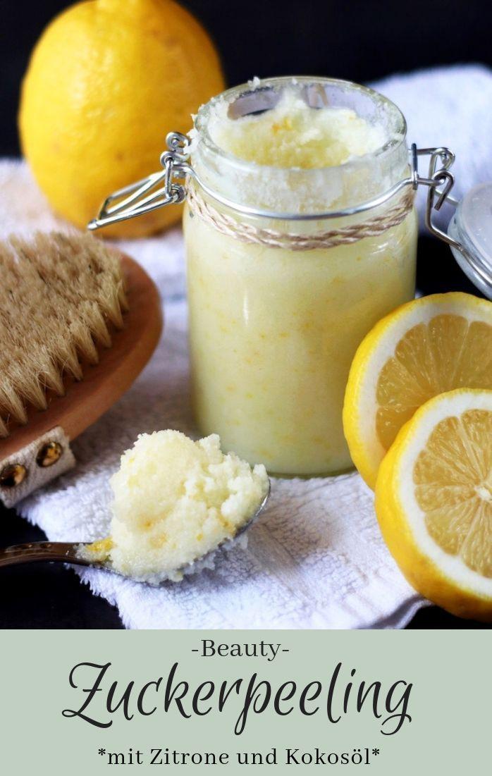 Sugar peeling with coconut oil and lemon  -  Hautpflege-Rezepte