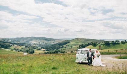 Campervan wedding in the Peak District