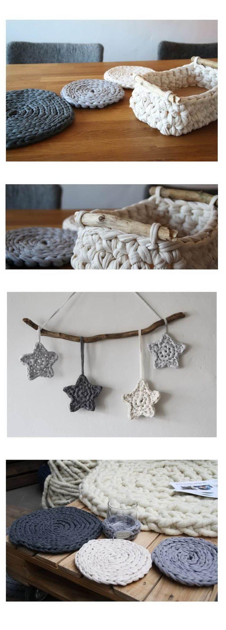 Mit dieser Kombination aus Treibholz (bzw. Holz im Allgemeinen) und Textilgarn, verarbeitet zu einem Häkelkorb, möchte ich mich im neuen Jahr endlich wieder mal mit einem Blogbetrag zurück melden. Dies sind nur einige meiner Projekte der vergangenen Wochen. Der Rest folgt in den nächsten Tagen.