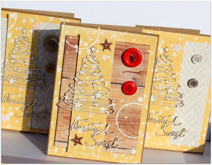 Świąteczne kartki (z muchą) - Scrapiniec / Christmas Cards (with a fly) - Scrapiniec