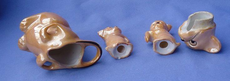 Арт-деко бонза собака золотой блеск посуды 3PC набор германия   eBay