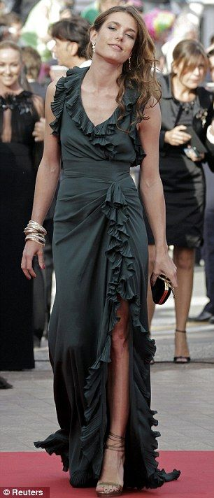 By Royal invitation: Charlotte Casiraghi attended the screening of Once Upon A Time In America in Cannes on Friday night