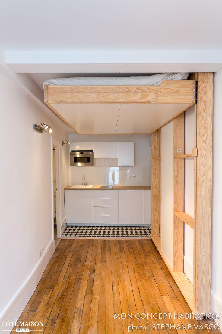 Chambre Blanc Gris Et Rouge : Armoires de cuisine design moderne pour petit espace 1000 idées sur