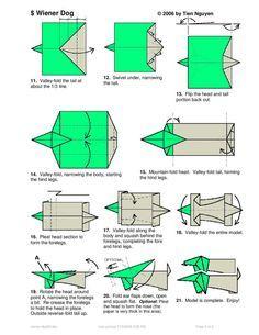 origami dachshund