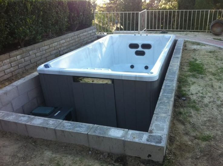 Vault for in ground spa pools spas pinterest for Garden plunge pool uk