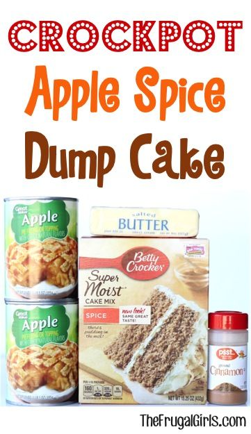 Crock Pot Dump Cake Recipe! ~ from TheFrugalGirls.com ~ cinnamon, spice and everything nice makes this the perfect Fall dessert! Just dump it in and walk away! #recipes #thefrugalgirls #crockpot #recipes #easy #recipe #slowcooker