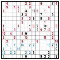 Color Link-a-Pix puzzle