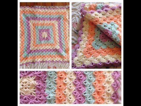 Picot shell blanket crochet in Tamil - YouTube