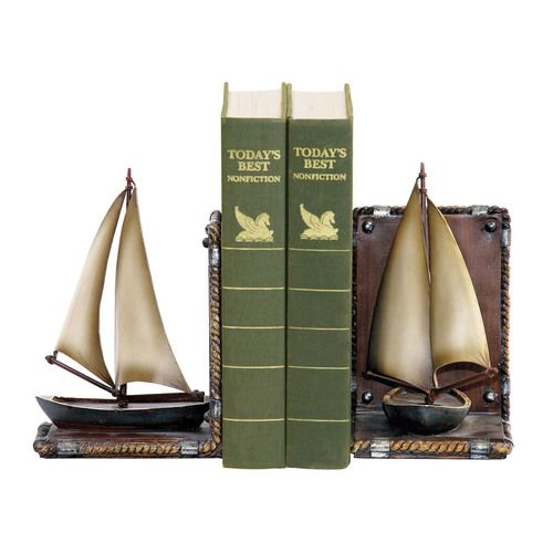 Pair Sailboat Bookends - 91-3907