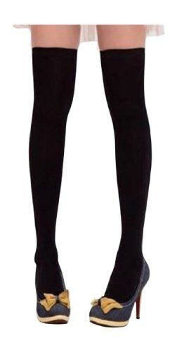 "GIRLS' BLACK Knee/Thigh High Socks Sockings Brand NEW Great Quality- By JAM Closet (608819862095) Socks in 100% Cotton! For junior size medium, slender legs. Size from top to heel: ~18"" (L) x 3.5"" (Crus Width). Size from heel to toe: ~6.6"" x 3.1"" (L*W)     Stretchable, one size mostly fit all(From 4'9"" to 5'3"".Made in very fine cotton and spandex. JAM_Closet is a US Company. Domestic delivery within the US takes 2-5 working days. Definitely no international return. Please check sellers' ..."