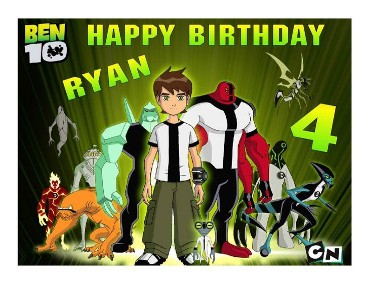 Ben 10 Edible image cake and cupcake toppers