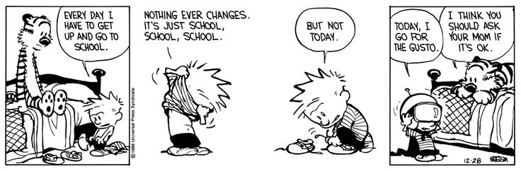 Calvin and hobbes by bill watterson for december 28 1988