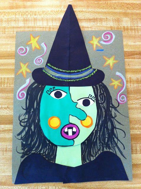 Drip, Drip, Splatter Splash- Picasso Witch Art