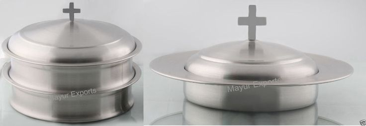 Communion Tray Set with Lid & Bread Plate with Lid- Matte Finish (Brand New)