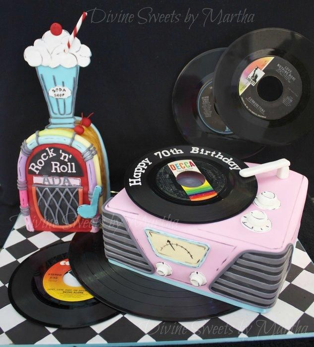 50's CAKE - Cake by Martha Chirinos Teruel