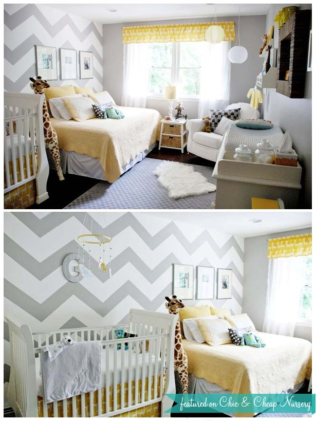If you are tight on space i like the idea of having another bed in the room Good for mom during the beginning & nice for guests. Could let baby sleep in bassinet in parents room if guests were over.