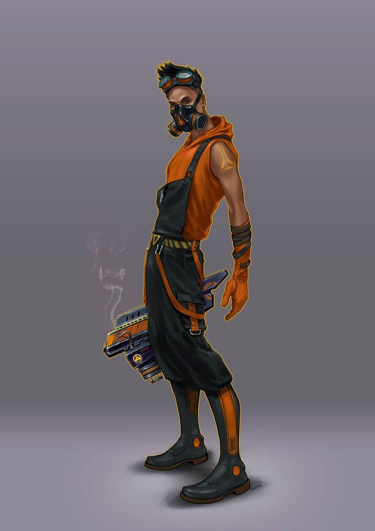 Overwatch Character Design Analysis : Artstation Сhemist gaier art characters and creatures