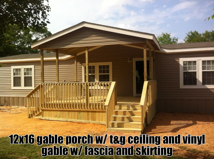 Gable Porches Ideas For Our Home Mobile Home Porch