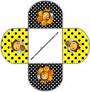 Baby Bees: Free Printable Favor Boxes.