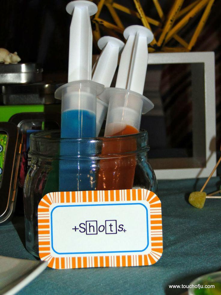 Mad Science Party Science Party Einstein Party Cientista Maluco festa  Jello Shots  gelatina
